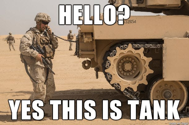 hello yes this is tank marine corps memes