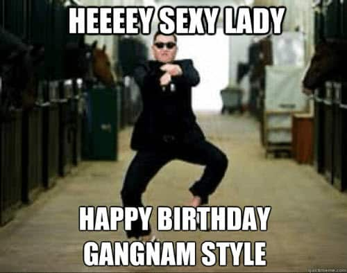 hey sexy lady birthday meme