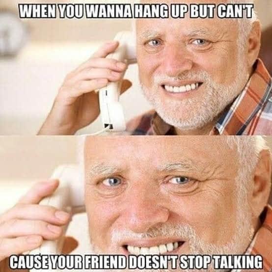 hide the pain harold hang up meme