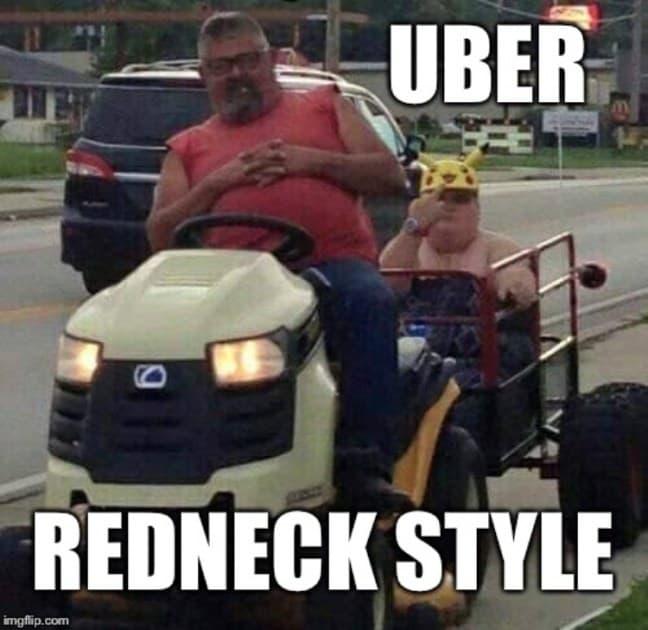 hillbilly meme uber redneck style