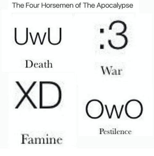 horsemen uwu meme