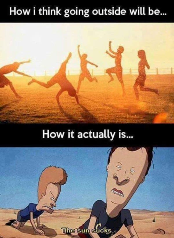 hot weather funny meme