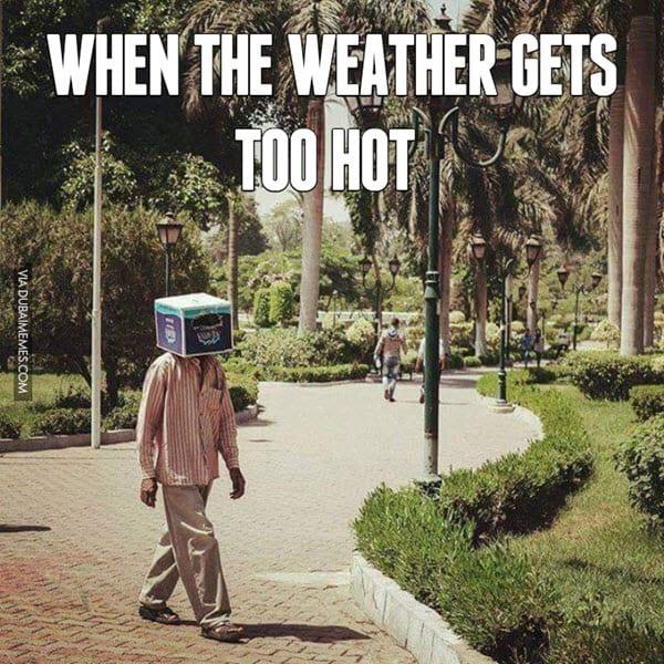 hot weather too meme