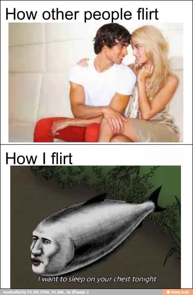 flirting meme images without people book: