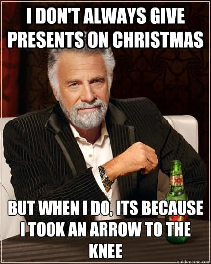 i dont always give presents on christmas