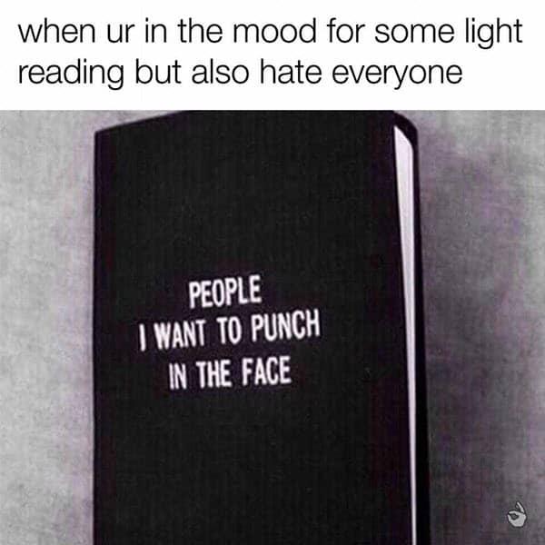 i hate people light reading meme