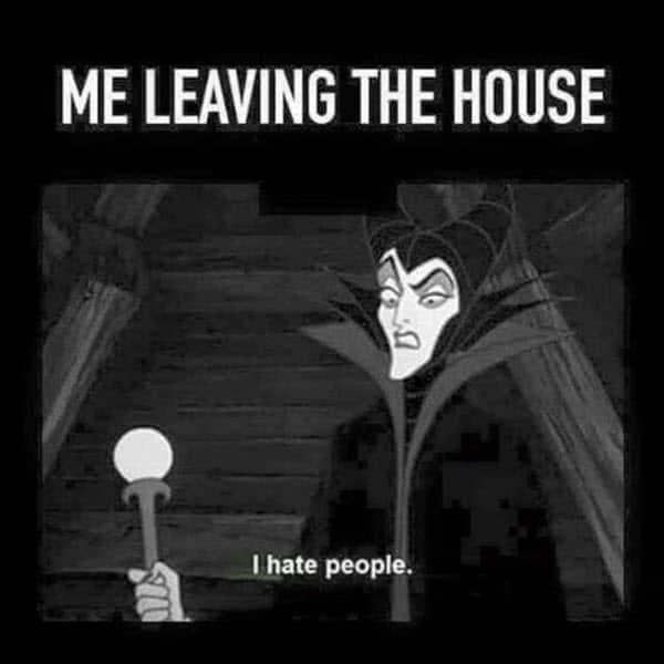 i hate people me leaving the house meme
