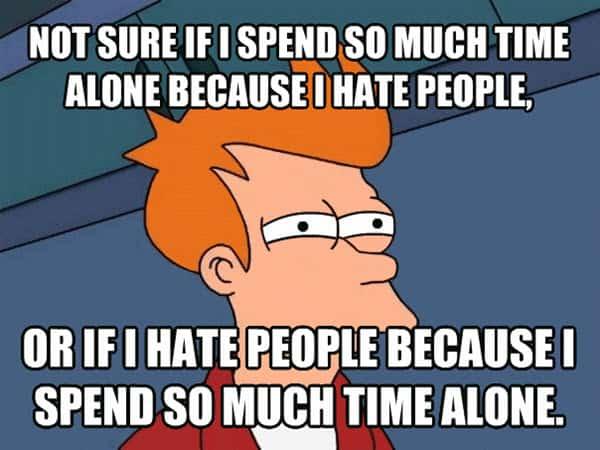 i hate people not sure meme