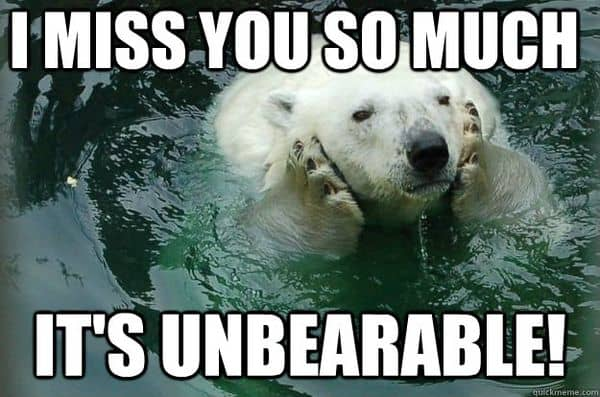 i miss you so much its unbearabe memes