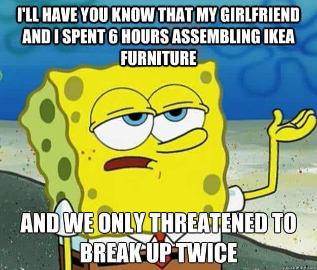 ikea breaking relationships ikea meme