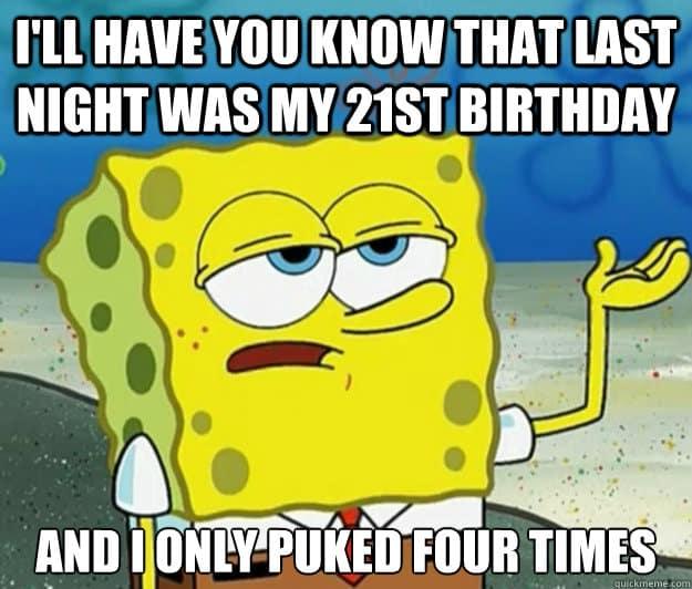 20 Funniest Happy 21st Birthday Memes | SayingImages com