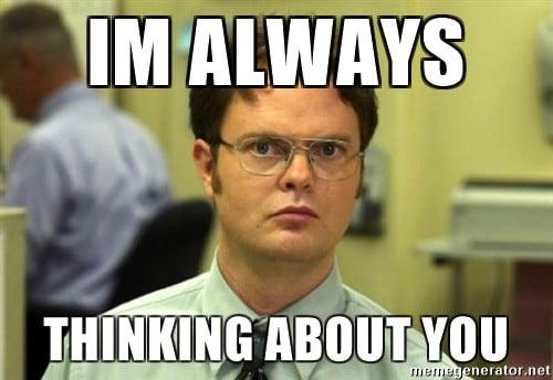 Funny Hiking Meme : 20 super sweet & funny thinking about you memes sayingimages.com