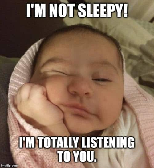 im not sleepy meme