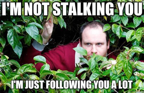 im not stalking meme
