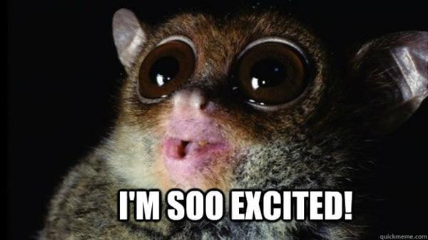 im so excited tarsier meme