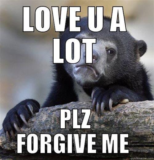 im sorry love u lot meme