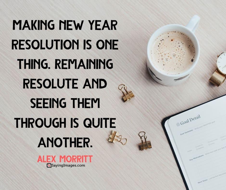 inspirational new years resolutions resolute