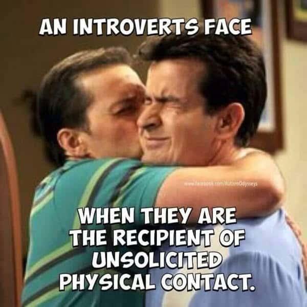 introvert face meme