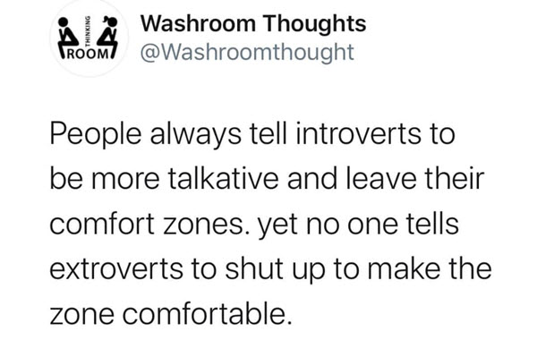 introvert washroom thoughts meme