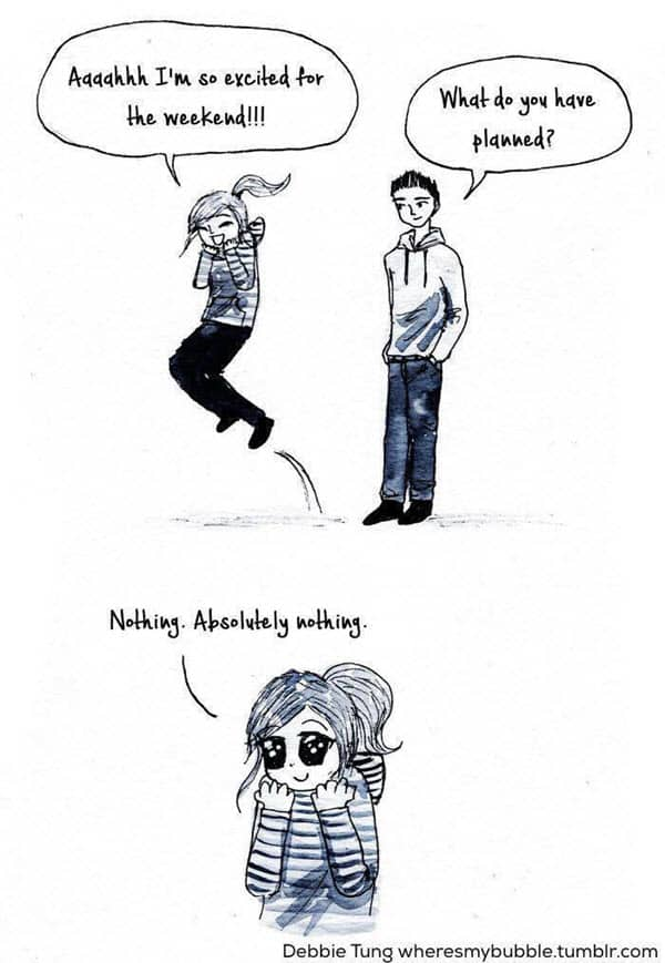 introvert weekend meme