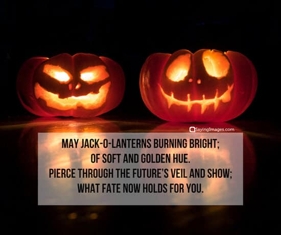 jack o lantern halloween message