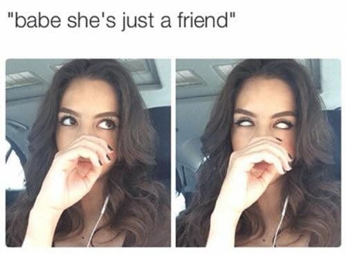 jealous babe meme