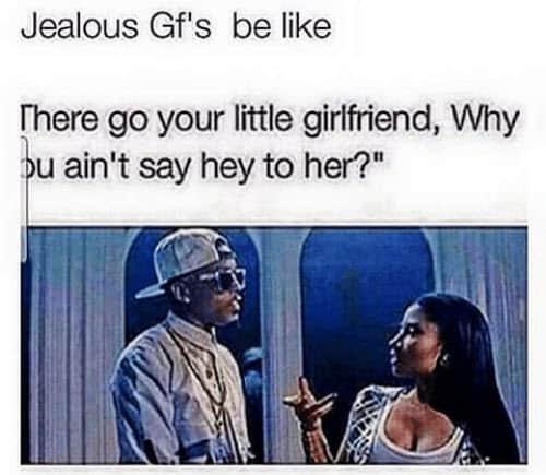 jealous gf meme