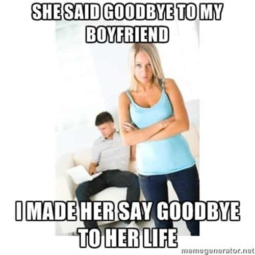 jealous she said goodbye meme