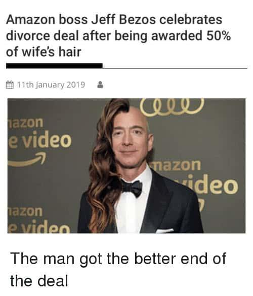 jeff bezos divorce deal memes