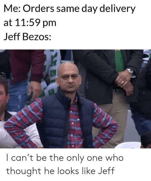 jeff bezos same day delivery memes