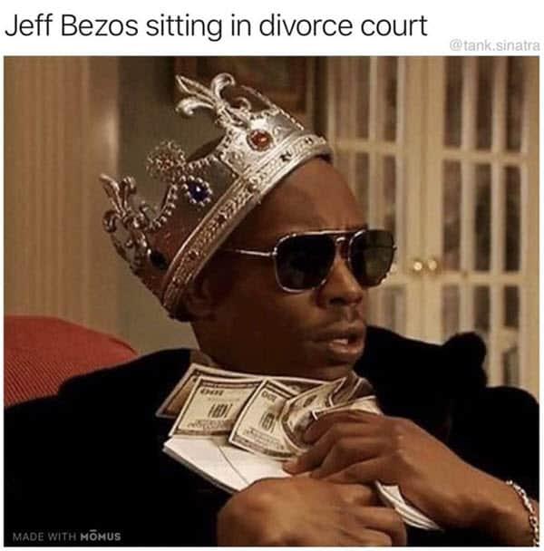 jeff bezos sitting in divorce court memes