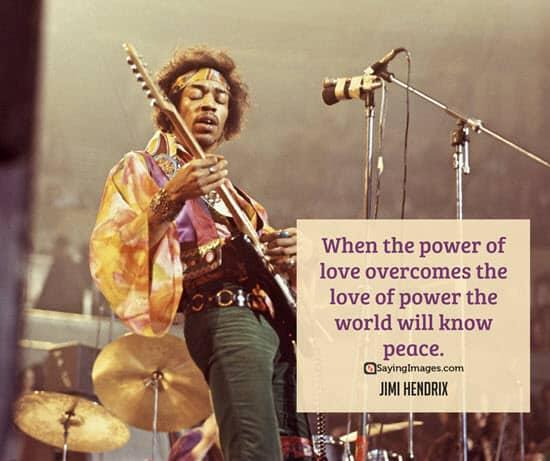 jimi hendrix peace quotes
