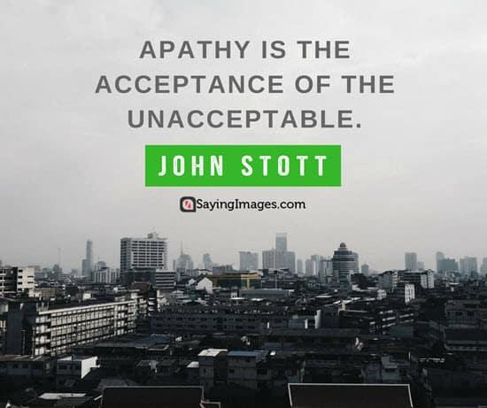 john stott apathy quotes