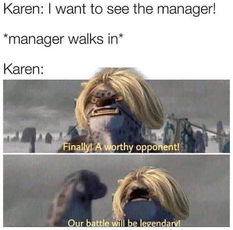 karen battle meme