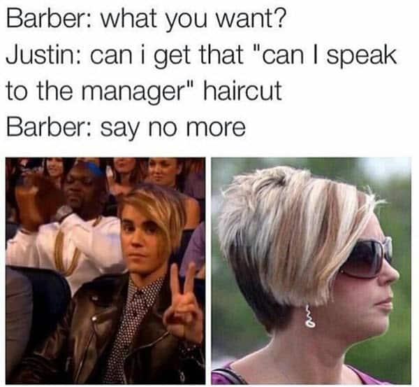 karen haircut memes