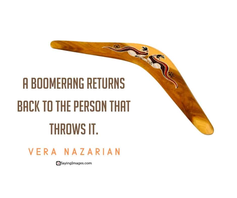 karma boomerang quotes