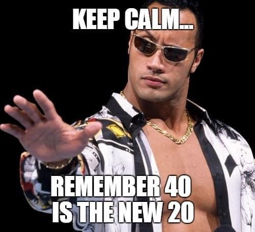 keep calm happy 40th birthday meme