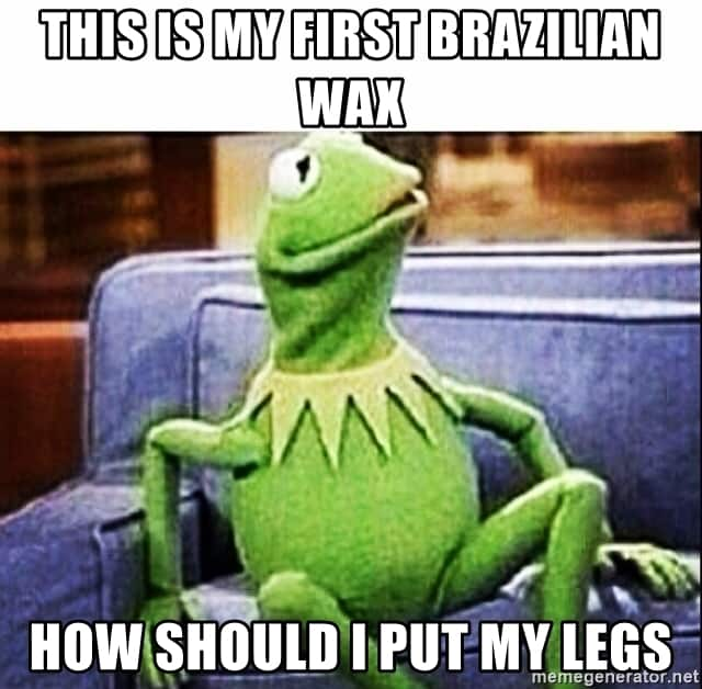 legs waxing meme