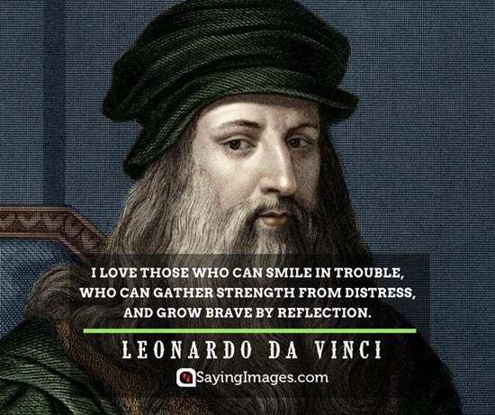 leonardo da vinci smile quotes