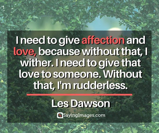 les dawson love and affection quotes