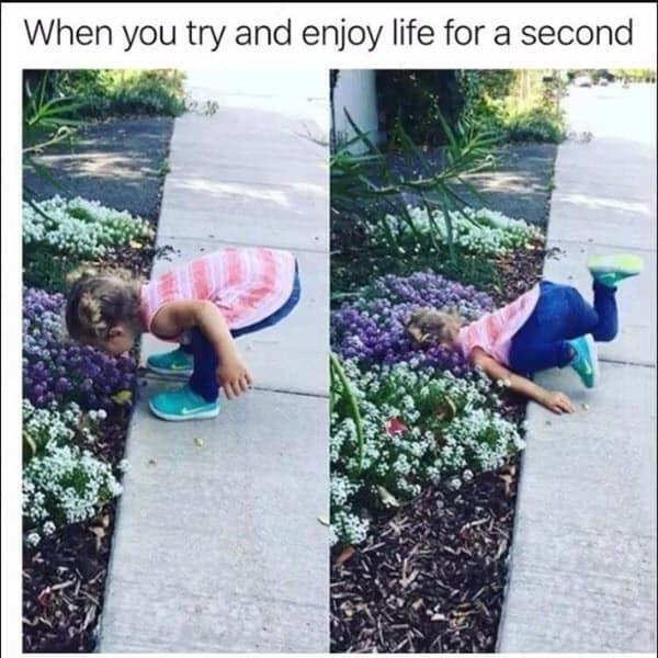 life sucks for a second meme