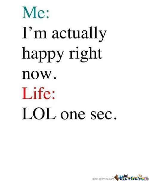life sucks lol meme