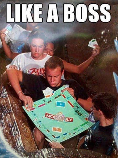 like a boss rollercoaster meme