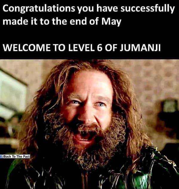 lockdown level 6 of jumanji memes