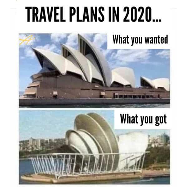 lockdown travel plans memes