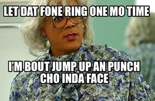 madea phone ringing meme