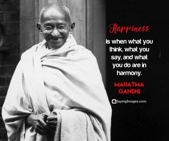 mahatma gandhi happiness quotes