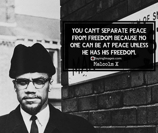 malcolm x peace quotes