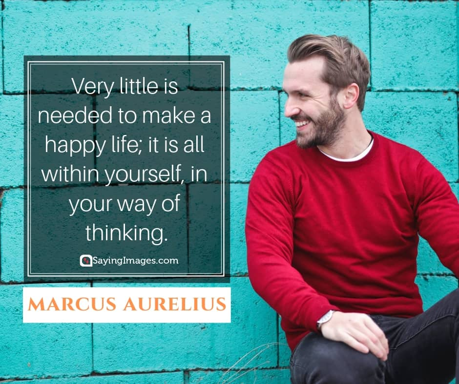 marcus aurelius happy life quotes