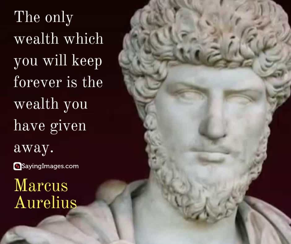 marcus aurelius wealth quotes